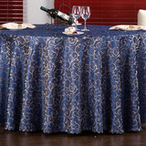 Morning glory tablecloth (deep blue)